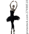 Ballerina dancer dancing woman isolated silhouette 27498510
