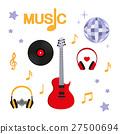 Music. Guitar, music, record, headphones, disco 27500694