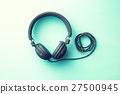 The vintage headphones. 27500945