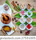 Various of thai food cooking ingredients . 27501005