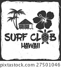 Surf club retro badge. 27501046