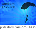 skydiving tandem on the abstract background 27501435