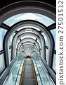 escalator in modern building 27501512