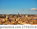 Rome aerial view with Papal Basilica of St. Peter 27502018