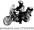 motorcyclist illustration 27502049