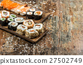 Traditional japanese food. Sushi rolls, maki, 27502749