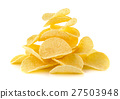 Potato chips on white background 27503948