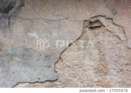 old cement, rough wall background 27505678