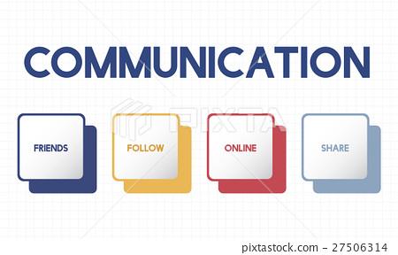 Social Media Box Buttons Concept 27506314
