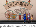 Enjoyment Entertainment Amusement Park Concept 27507174