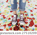 Sneakers Feet Casual Cheerful Party Shoes Concept 27510209