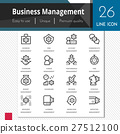 Business management elements vector icons set. 27512100