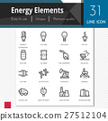 Energy elements vector icons set. 27512104