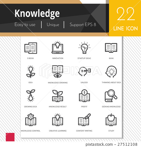 knowledge elements vector icons set. 27512108