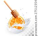 蜂蜜 牛奶 矢量 27512354