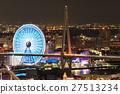 ferris wheel, tempozan market place, night scape 27513234