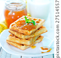 waffles with apricot jam 27514557