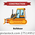 Construction icon with bulldozer 27514952