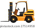 Forklift in yellow color 27514958