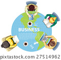 Business people working around the world 27514962