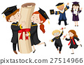 People in graduation gown 27514966