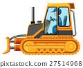 Man driving yellow bulldozer 27514968