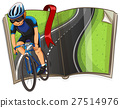 Book with cyclist riding on the road 27514976