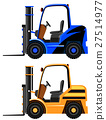 Forklifts in two different colors 27514977