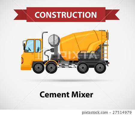 Constructin icon with cement mixer 27514979