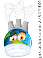 Environmental theme with earth and air pollution 27514984