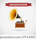 Icon design with gramophone 27514992