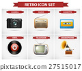 Retro icon set with different objects 27515017