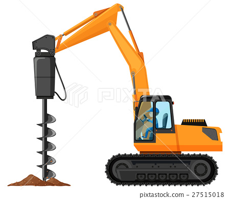 Man driving driller truck 27515018