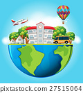 Buildings and transportation on earth 27515064