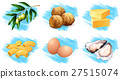 Different types of food ingredients 27515074