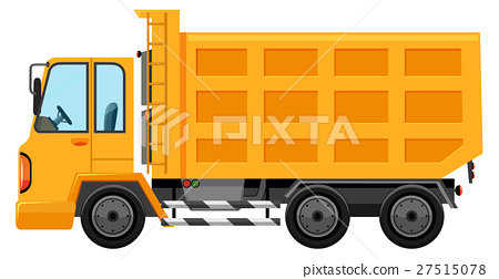Dumping truck on white background 27515078