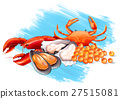Different kinds of fresh seafood 27515081