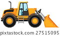 Bulldozer without driver on white background 27515095