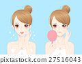 cartoon woman with acne 27516043