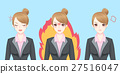 cartoon business woman feel angry 27516047