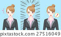 cartoon business woman feel surprise 27516049