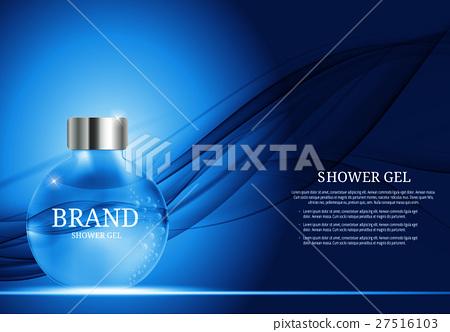 Shower Gel Bottle Template for Ads or Magazine 27516103