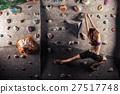 woman practicing rock-climbing 27517748
