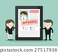 Businessman resume is approved.  27517936