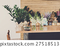 Flower shop interior, small business of floral 27518513