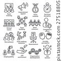Business management icons in line style. Pack 21. 27518805