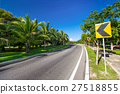 Road signs warning for ahead dangerous curve 27518855