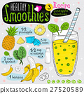 Healthy smoothie recipe set.  27520589