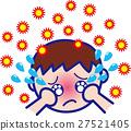 꽃가루 알레르기 소년 감기 예방 인플루엔자 27521405