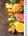 Variety of citrus fruits 27521889
